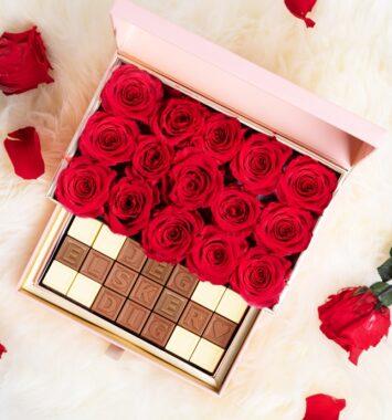 roser og chokolade