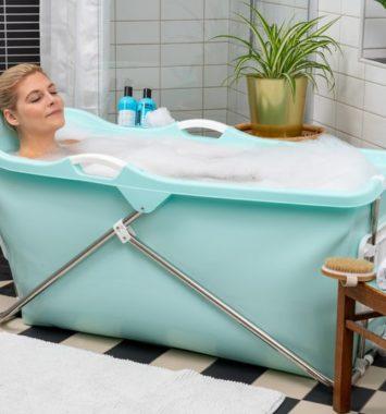 sammenfoldeligt badekar til veninden
