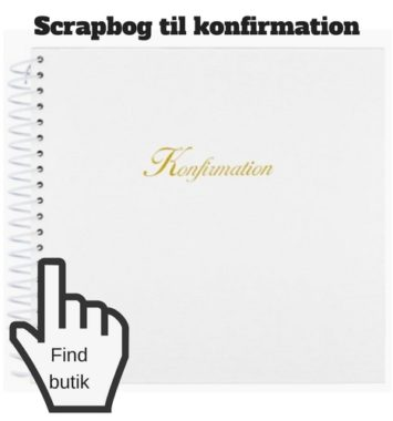 scrapbog til konfirmation