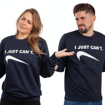 blaa sweatshirt med print