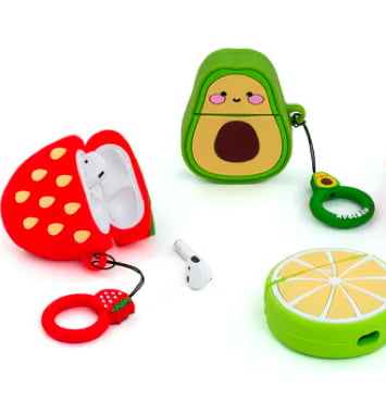 spralla airpod cover avocado