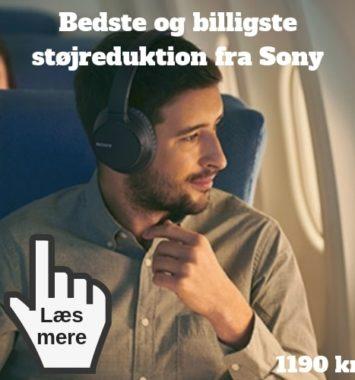 støjreduktion sony høretelefoner